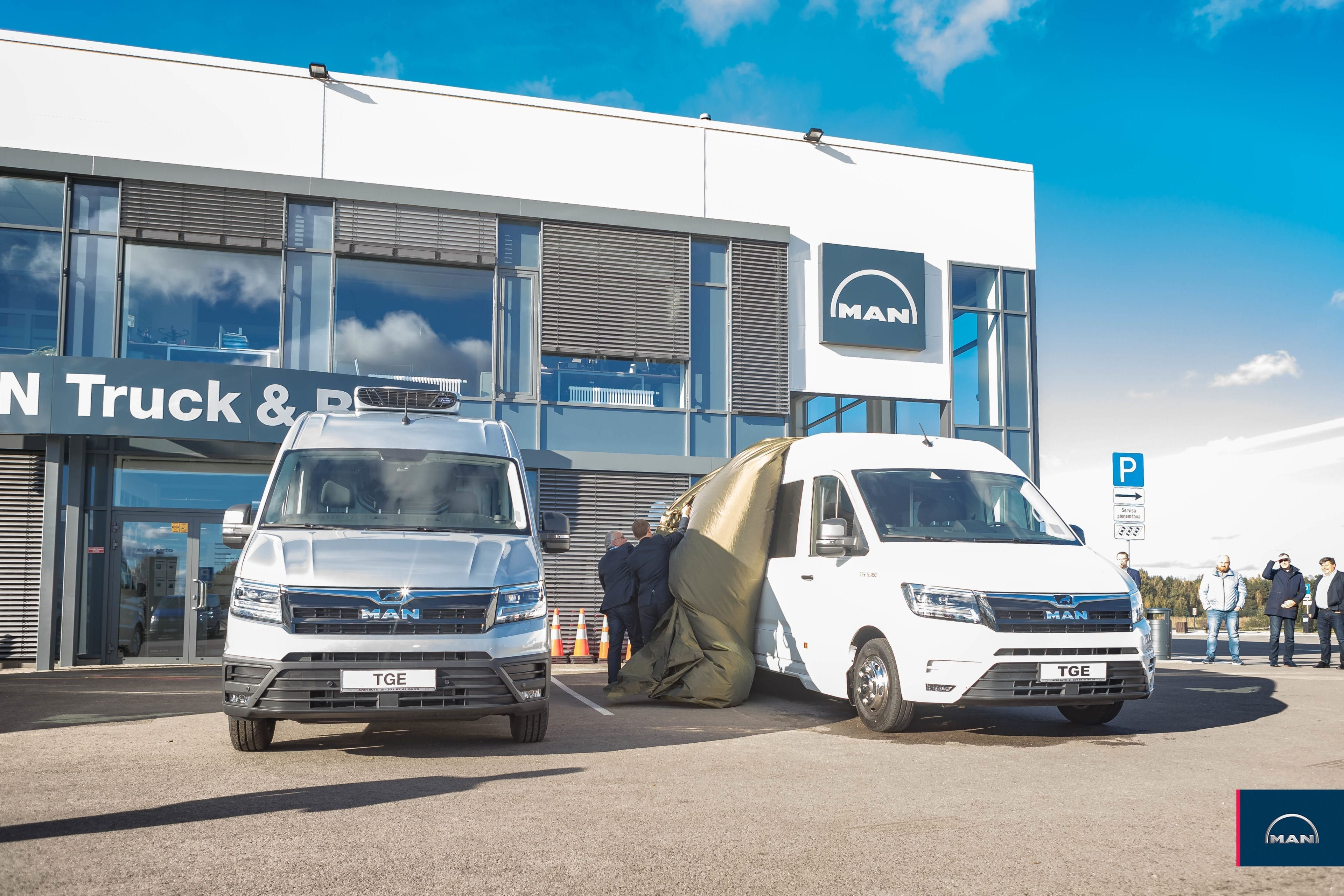 The new MAN TGE van makes its debut in Latvia