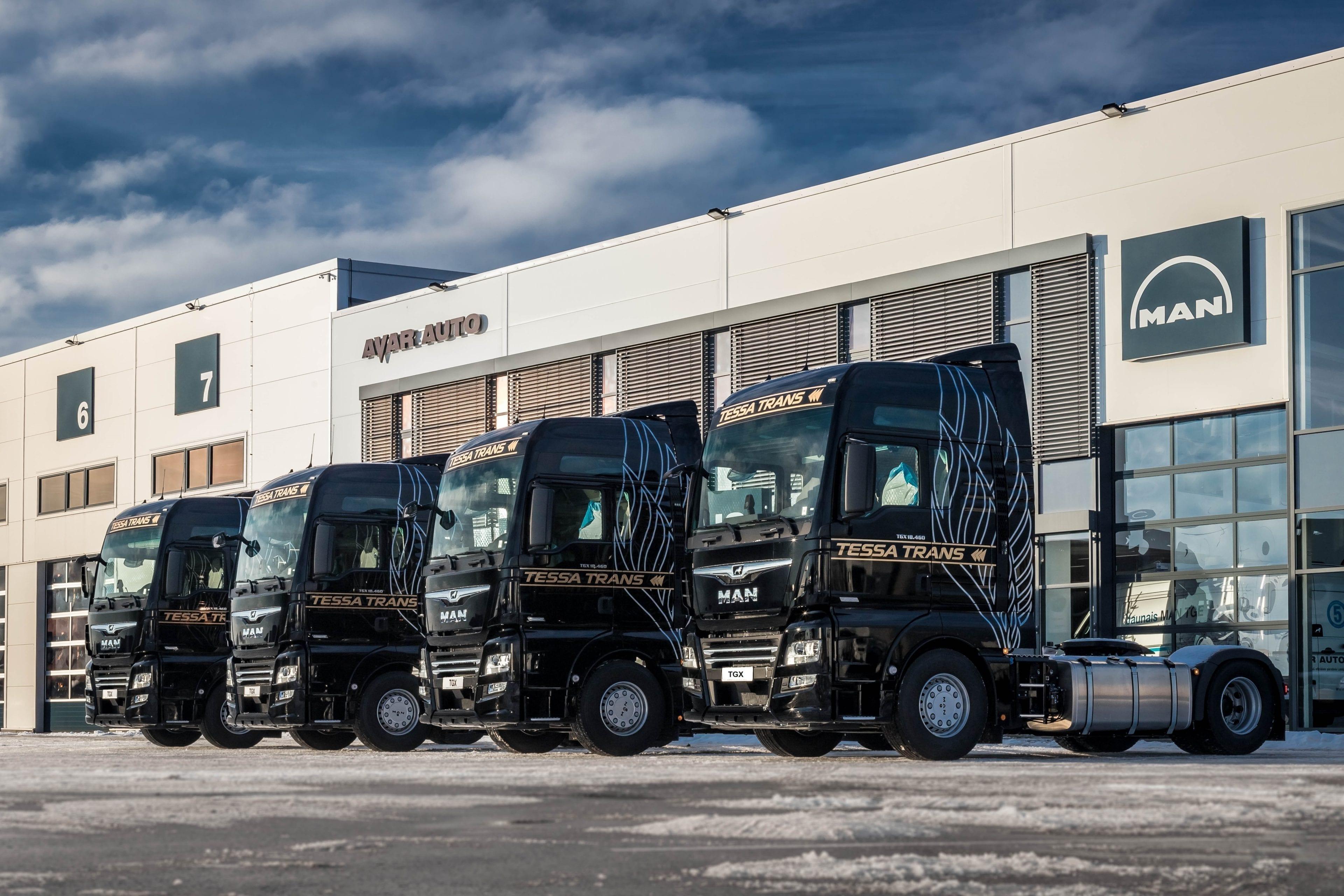 Доля рынка грузовых автомобилей MAN в Латвии продолжает расти