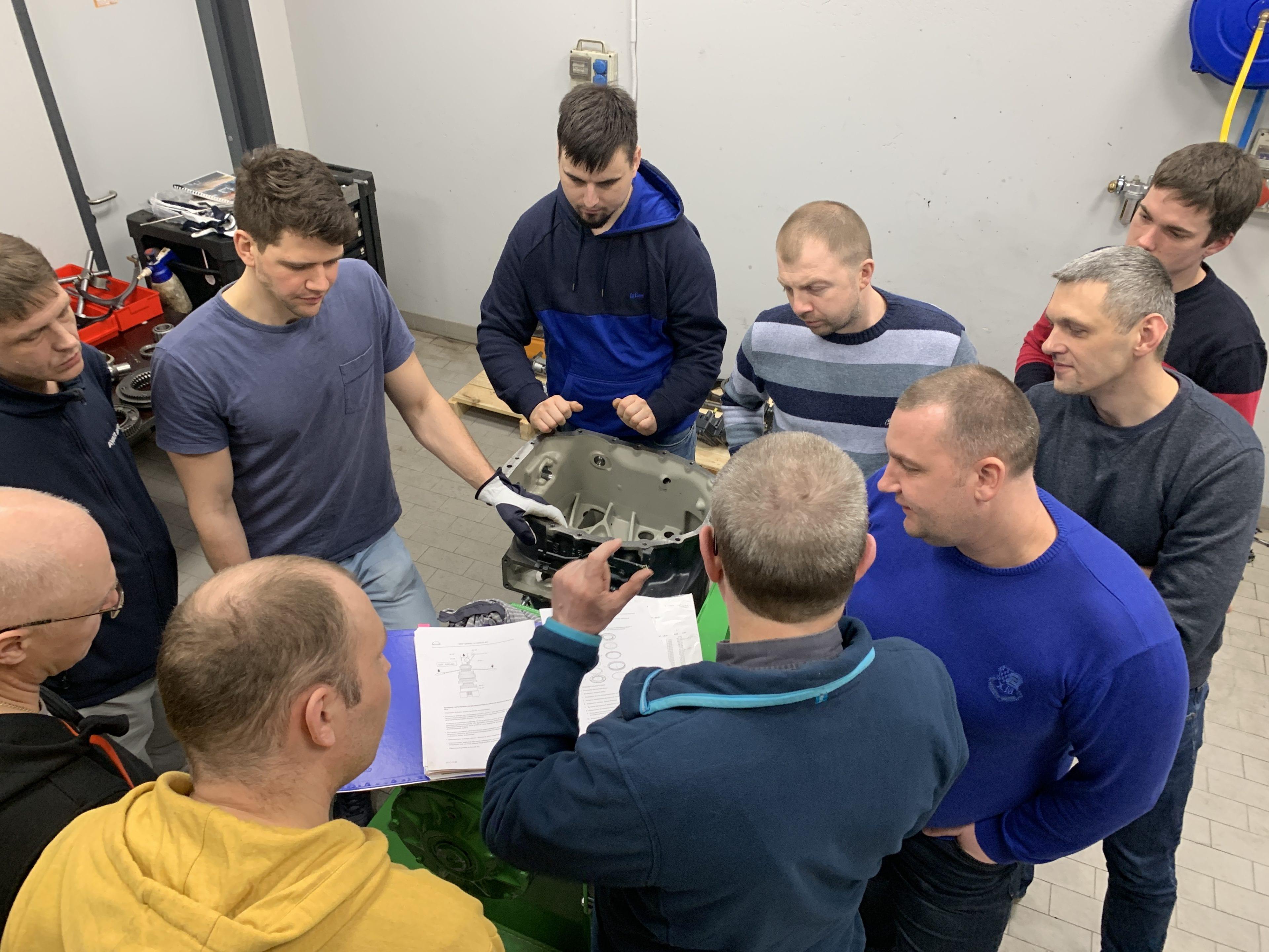 Обучение и диагностика по ремонту коробки передач MAN последнего поколения