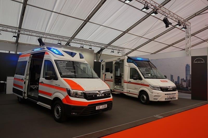 RETTmobil 2019: MAN was showcasing TGE emergency medical service and TGE firefighting trucks