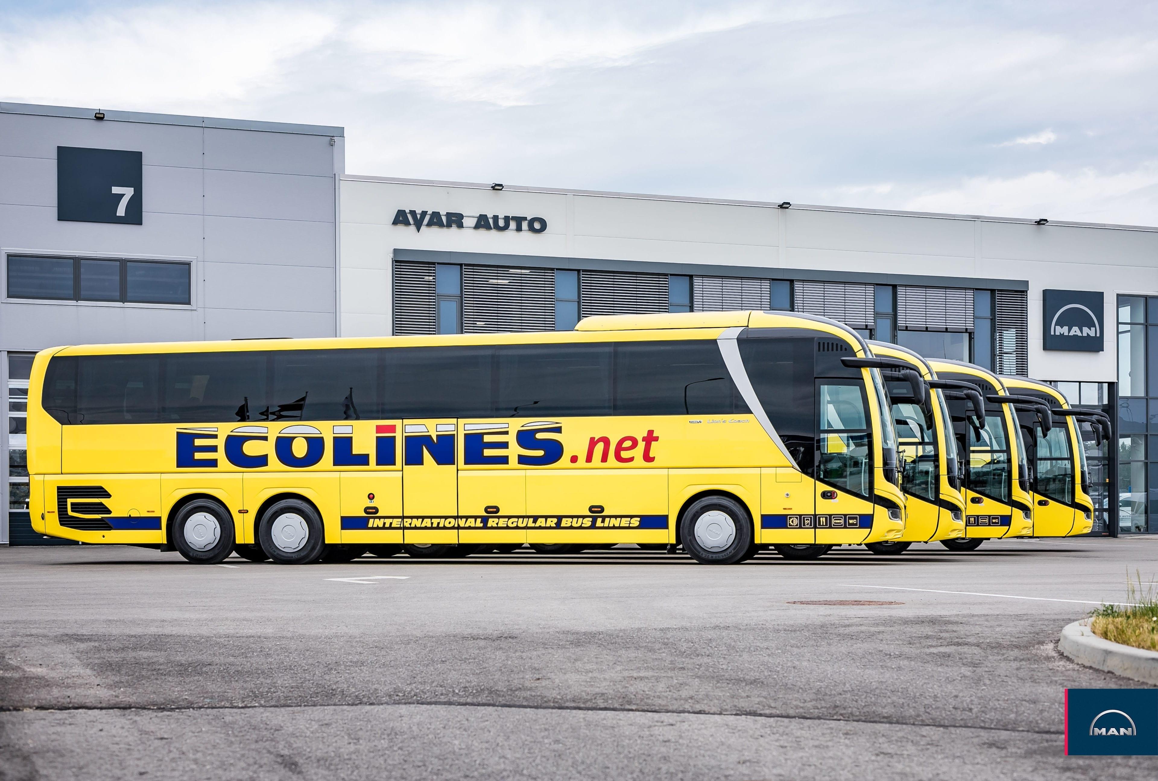 ECOLINES papildina autoparku ar 4 jauniem MAN Lion's Coach autobusiem