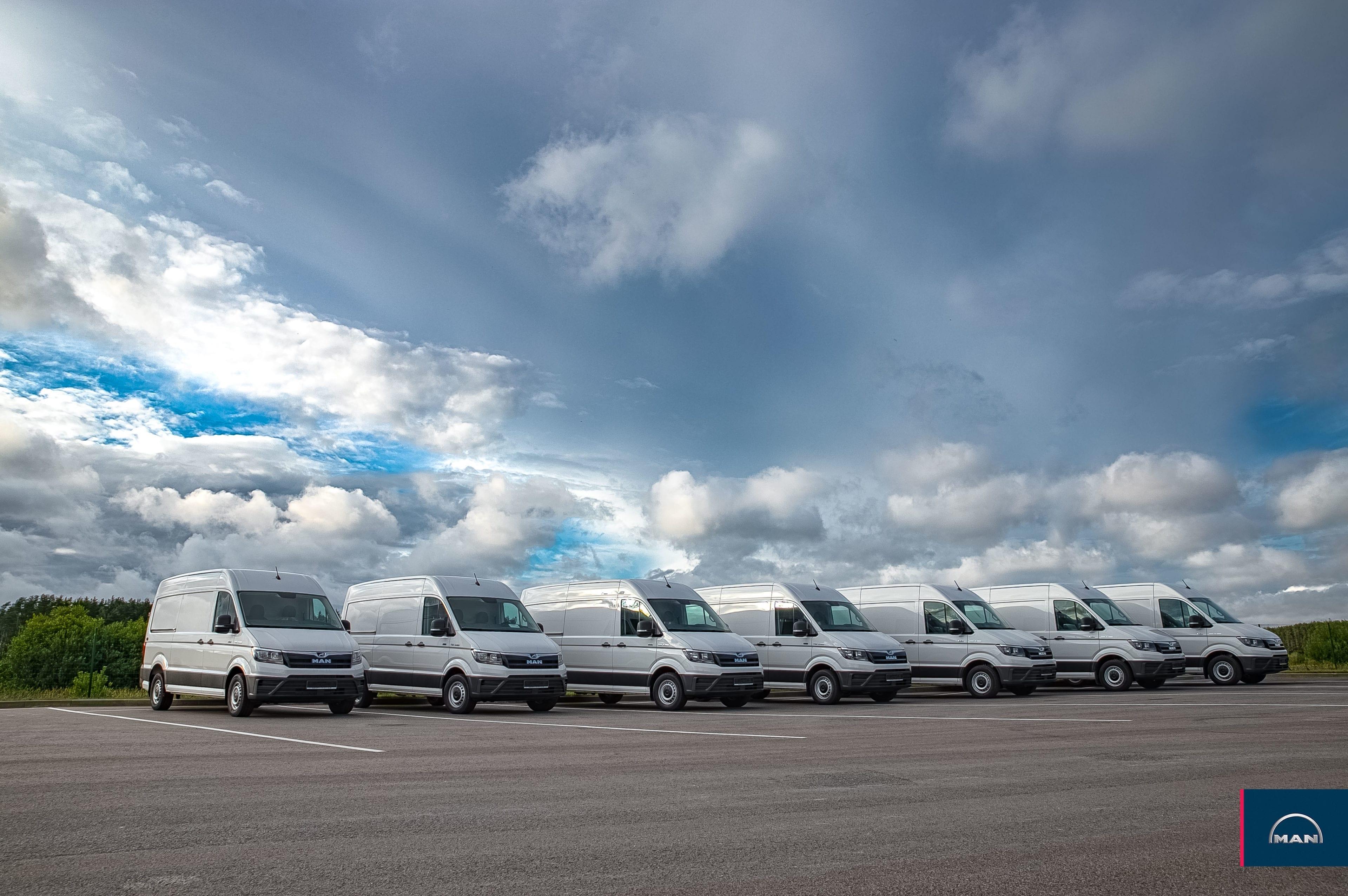 LATVENERGO papildina autoparku ar 12 jauniem MAN TGE mikroautobusiem