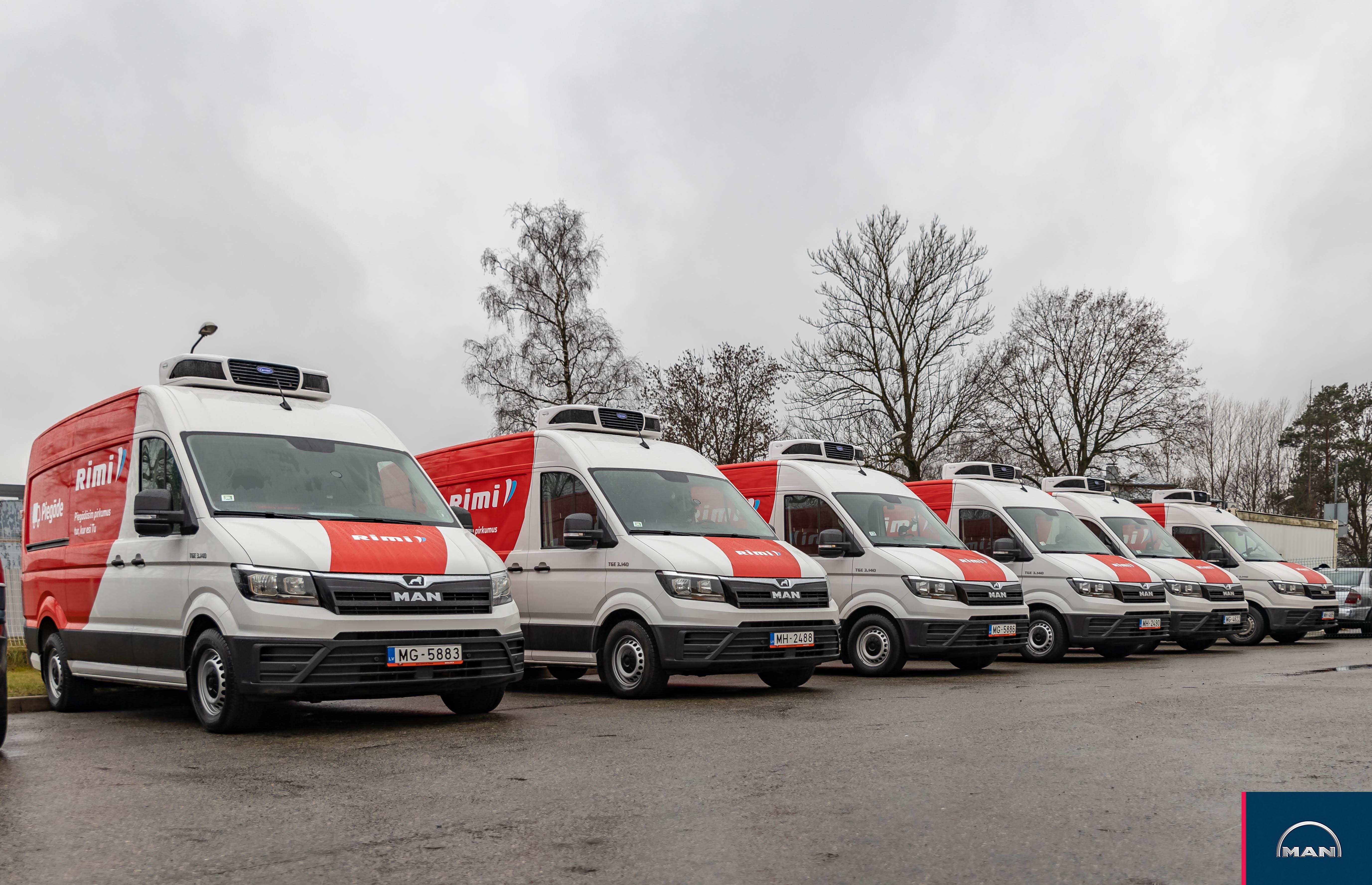 Клиентам э-магазина Rimi будут достав-лять продукты новые микроавтобусы MAN TGE