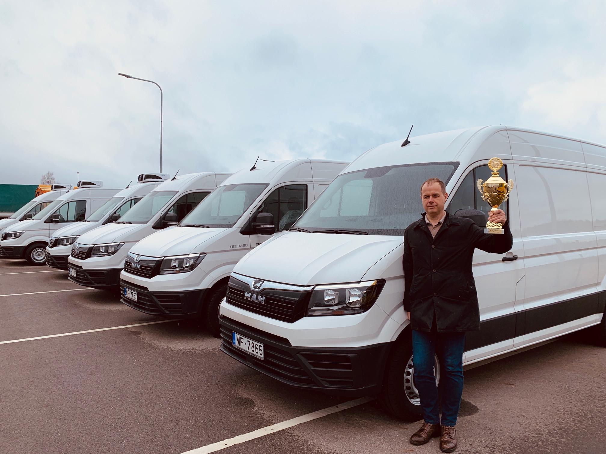 AVAR AUTO консультант по продажам получил приз «The Champion of the 2019 MAN TGE»
