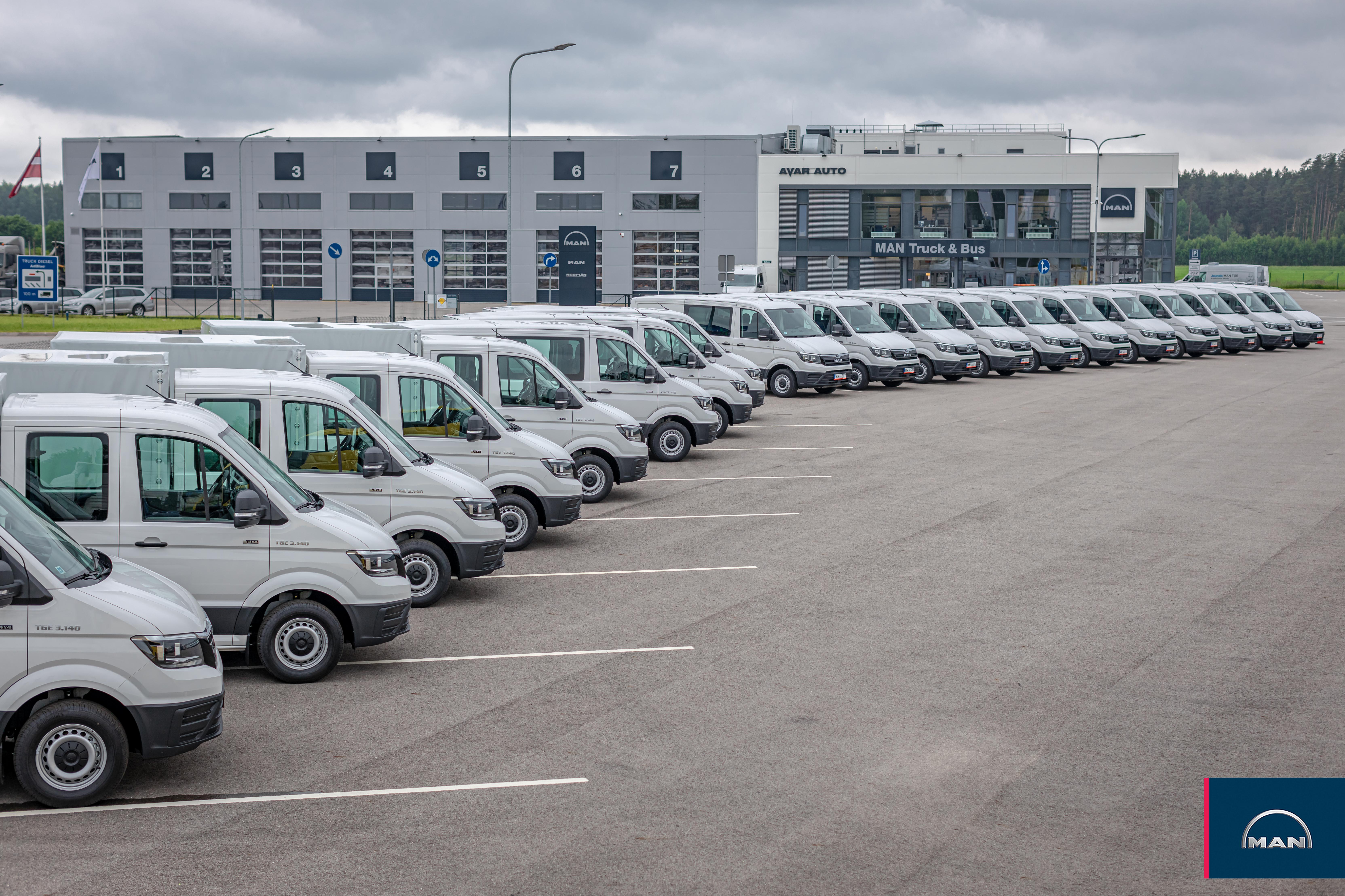 19 new MAN TGE vans delivered to Latvian railway