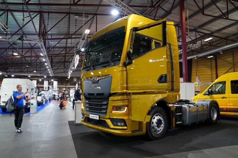 The new MAN TGX at the International Motor Show in Riga